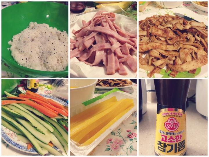 Kimbap Ingredients